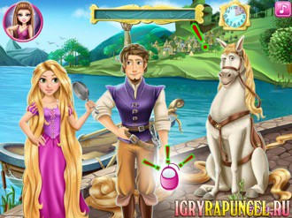Игра для девочек приключения рапунцель